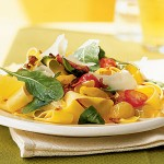 Summer Pappardelle with Tomatoes & Arugula