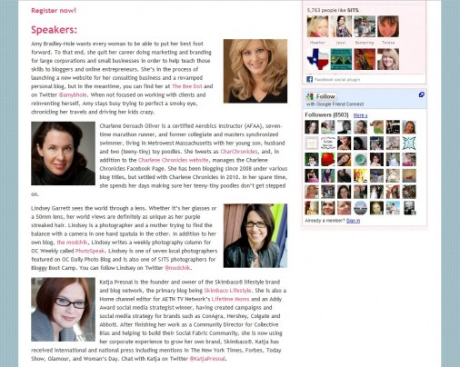 screenshot of speakers for SITS Boston Conference