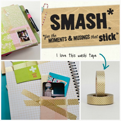 smash book and washi tape