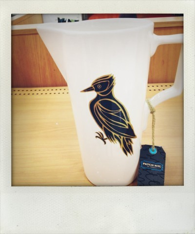 Patch NYC Ceramic Woodpecker Pitcher