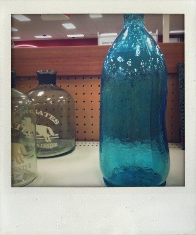 Colored Glass Bottles Target