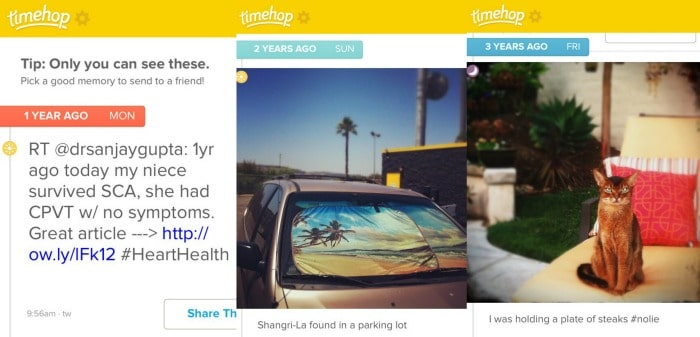 time hop app screenshot
