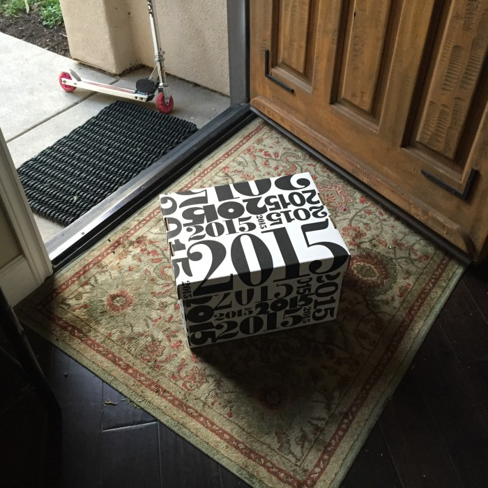 2015 printed on storage box